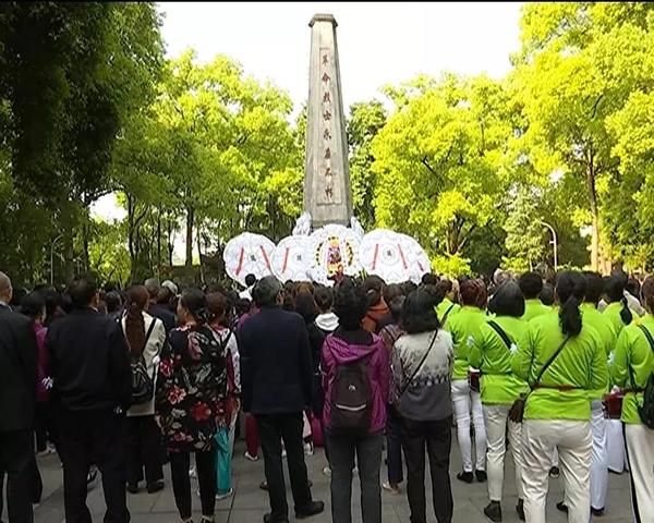 合江县各单位组织清明祭扫活动